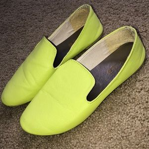 Shoes - Lime Colored Flats